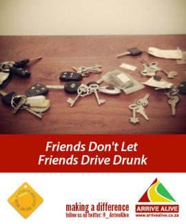 Arrive Alive tweets drunk friends