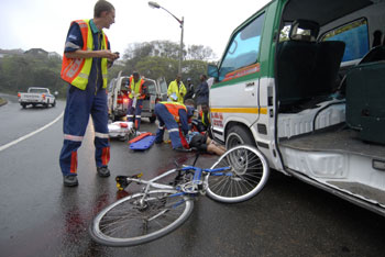 Cycling-accident