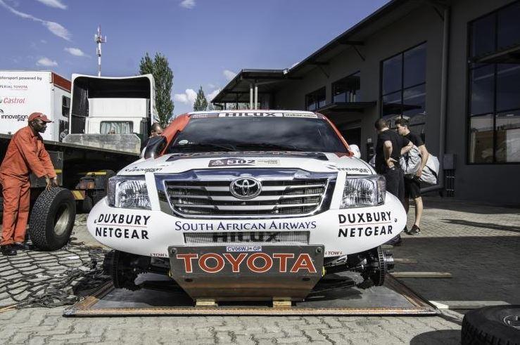 Dakar 2014 vehicle wheel strip