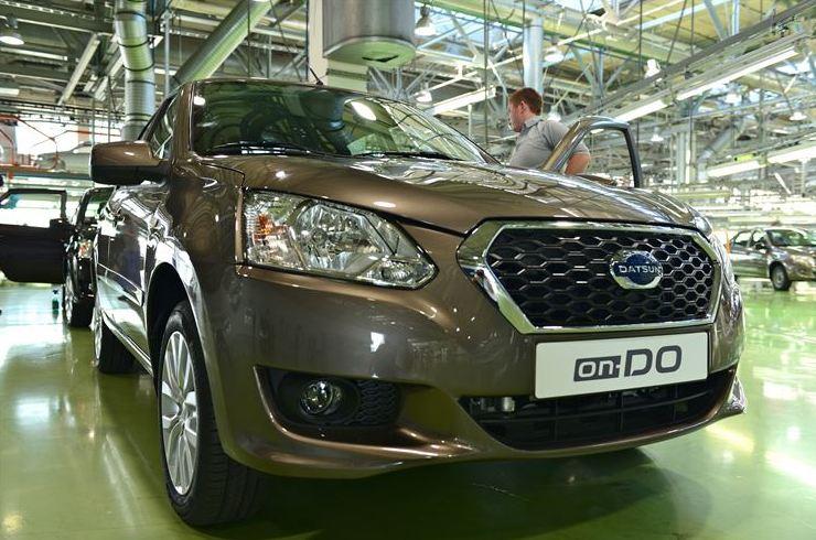 Datsun On Do Rolls Off The Line At The Togliatti Plant In Russia