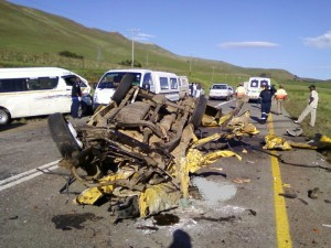 Drive Safely near accident scene