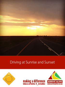Driviing at Sunrise and Sunset