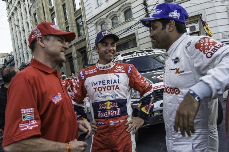 Giniel at end of Dakar 2014