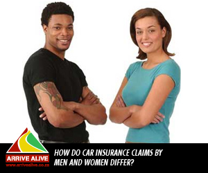 How do car insurance claims by men and women differ
