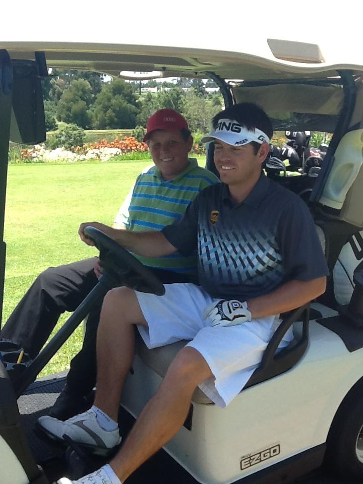 Louis oosthuizen golf cart
