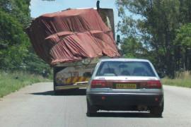 Overloading truck africa