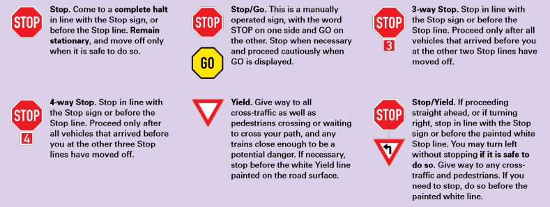 STOP YIELD SIGNS