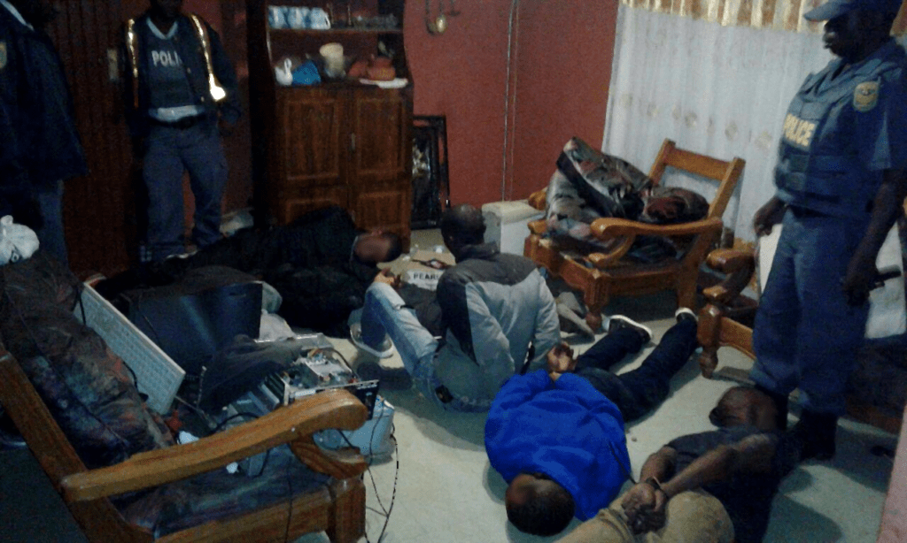 The four suspects who were arrested following a hijacking on the East Rand Saturday