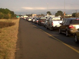 Traffic after N8 bus acc
