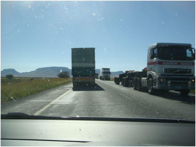 Trucks in Karoo