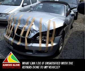 What can I do if unsatisfied with the repairs done to my vehicle