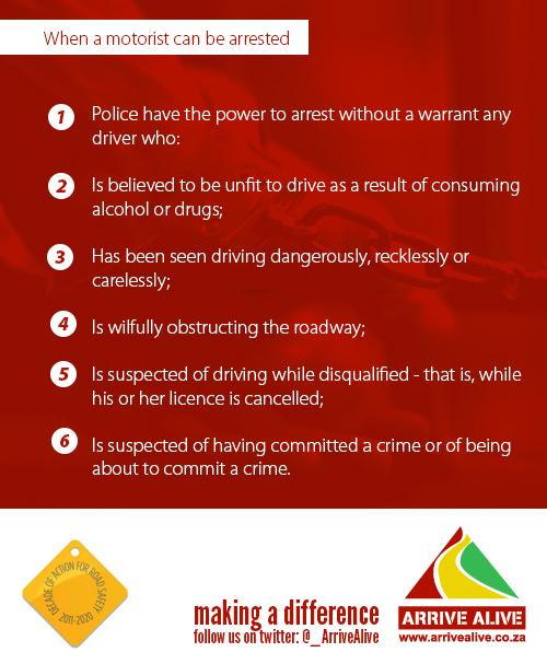 arrest without warrant motorist