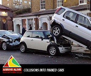 collisions parked cars