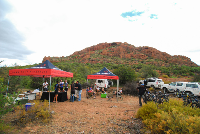Dryland Ride offers three wholesome meals a day, with lunch stops being in some of the most remote parts of Southern Africa.
