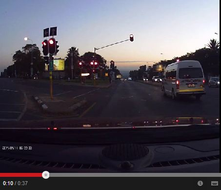 overtaking on red light
