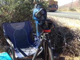 speed camera and stand