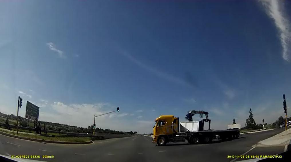 u-Turn truck intersection
