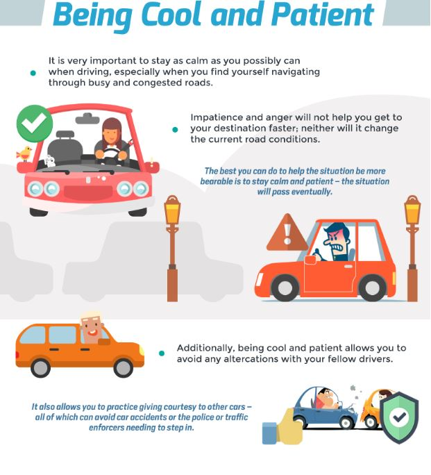 infographic shares some important road safety tips to