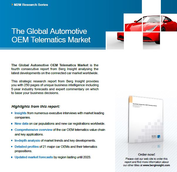 New Report The Global Automotive Oem Telematics Market 4th